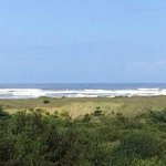 Beautiful view from our balcony - room 304 at the Grey Gull, Ocean Shores, WA.