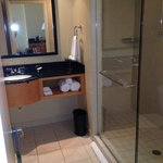 Large modern bathroom with great shower!