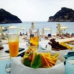 lunch at Akros beach bar