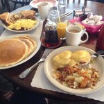 Yum! Pancakes, Eggs Benedict and Hash