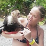 Monkey holding in ROATAN. I can't wait to go back!!!