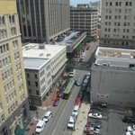 View from 12th floor room of St Charles Ave