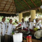 Some of the waiters including Jorge, Guadalupe and Pablo