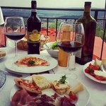 Lunch at the villa