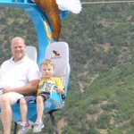 My son and I riding the Soaring Eagle.  They drastically improved this ride!