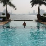 Swimming pool of Sofitel & Nile River