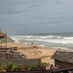varkala beach from the restaurant