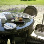 Cream tea on the terrace