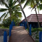 Path from beach to snack bar at Gran Club