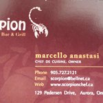 Chef's Card