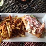 lobster roll and perfectly crispy fries