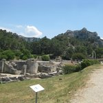 Overview of the archaeological site at Glanum