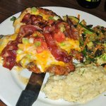 Chloe's Chicken Topped with Ranch, Cheese, Bacon, Tomato, and Scallions,
