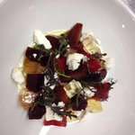 Goats cheese and salted beets