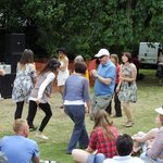 Caralyn dancing at the Leigh Folk Festival, June 2014