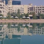 Grand Hyatt Doha's private sandy beach