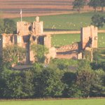 Brougham Castle from the bathroom (zoomed)