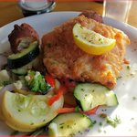 Fried Grouper and Fresh Vegetables
