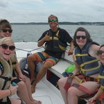 Group pose with Crew Mate Cory while other couple parasailed