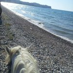 Horse riding on Roda beach