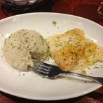 Lunch - Broiled Flounder and mashed potato