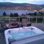 Deck View & Hot Tub
