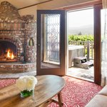 Vineyard Spa Fireplace