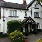 The Lymm Hotel, a lovely view of the front of hotel.