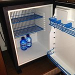 Minibar not stocked - two complimentary waters