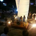Live band at the entrance of Discovery Shopping Mall.