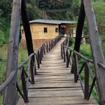The footbridge from the Narobi National Park to the Lodge