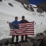Hiking up to Camp Muir on the 4th, 2013