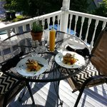 Saunders Suite: We enjoyed a nice breakfast on our second floor veranda.