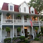 The exterior of the B&B is well-kept and charming.