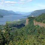 The awe inspiring Columbia River Gorge. Crown Point in the distance.
