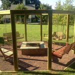 swing set fire pit they use at night for bonfires