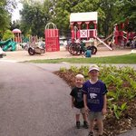 """Loved the farm oriented jungle gyms and tractors they could """"ride!"""""""