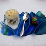 """""""cause and effect"""" -- sea urchin foam and shrimp"""