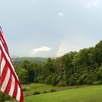 Brierly B&B mountain view - complete with rainbow!