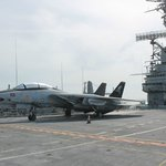 F-14 Tomcat on Flight Deck