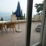 Large private patio overlooking Lake Garda.