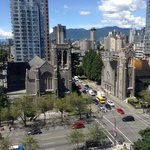 View from room of Church in downtown Vancouver.