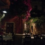 Outdoor restaurant in Chania town