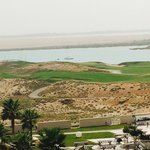 View from balcony over Yas Links