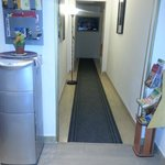 The office/entry Where one has to transist in and through to get to their room