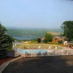 Pool and view of Seneca Lake