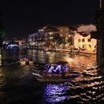 Night cruise along Malacca river