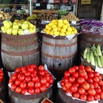Fresh fruits and veggies at Poor Farmer's Market. A short drive from the B&B.