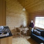 Dining/kitchen area in cabin