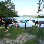 yoga at the bohinj lake